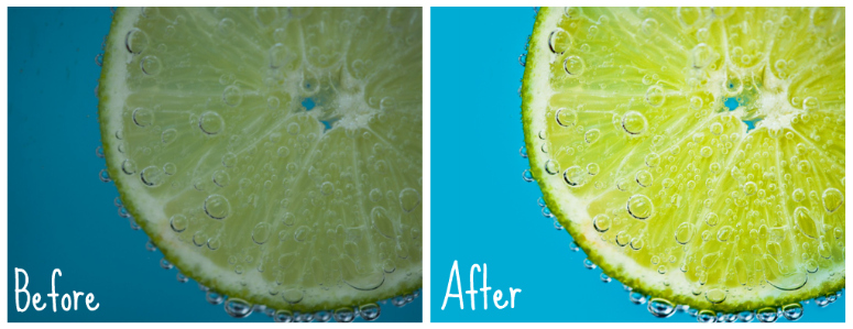 lime before and after