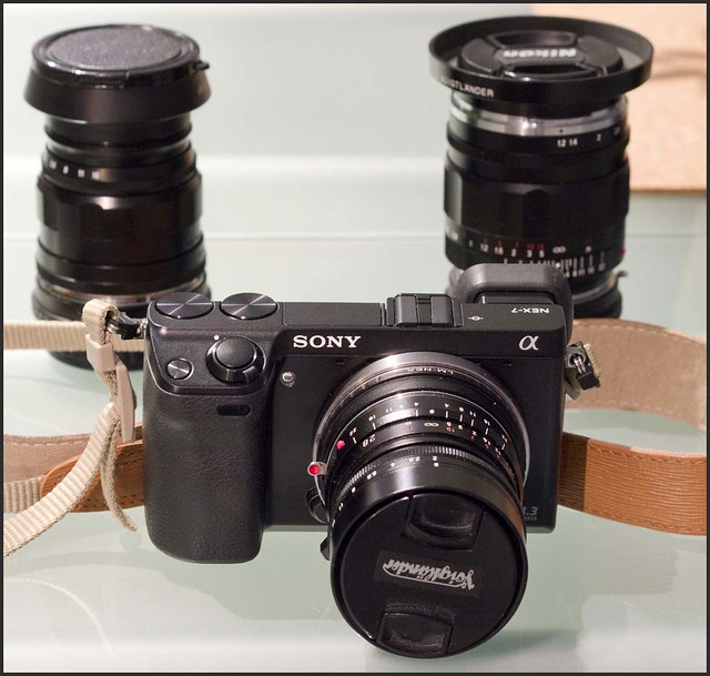 Panasonic GX1 20mm f/1.7 Sony NEX-7 Voigtlander 28mm f/2 Ultron 35mm f/1.2 Nokton 75mm f/2.5 Heliar