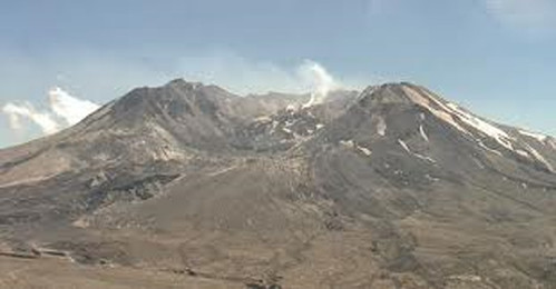 An image of Mount St. Helens from the Volcanocam. USFS photo.