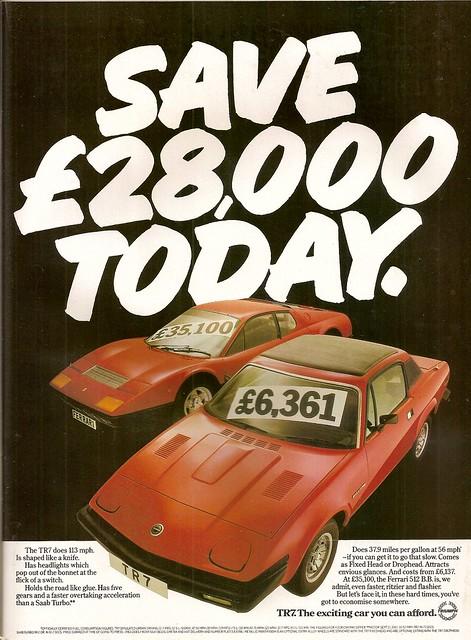 Triumph TR7 Advert 1980