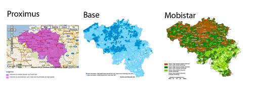 3G dekking in België - kaart