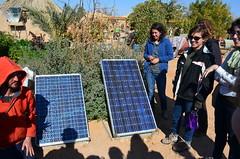 ECO-campus 內的兩塊太陽能板,提供所有衛浴、住宿、廚房用電