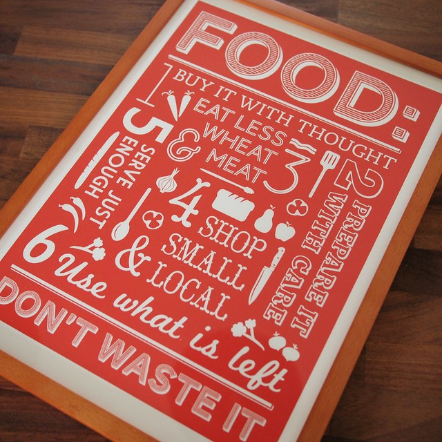 Red food poster