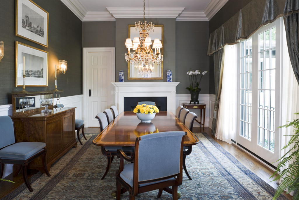 Formal Dining Rooms With Fireplace Edina Mn Completed In Custom Home Builders