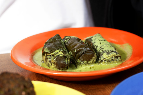 stuffed grape leaves @ hummus place