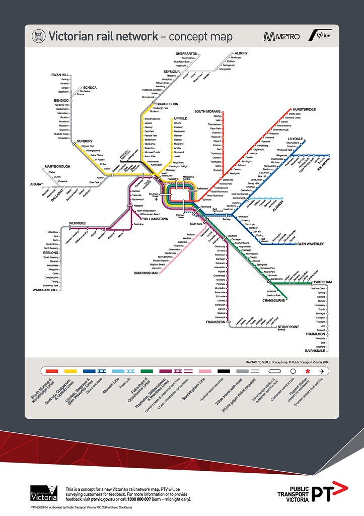 PTV Rail network map: concept design, April 2014