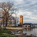The Miller Bell Tower located along the shore lines of  Lake Chautauqua , New York ,on the Chautauqua Institute Campus by G.Sprague1