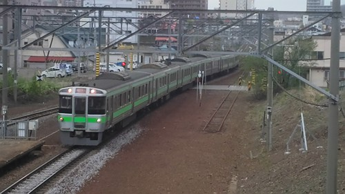 JR Hokkaido 721seires EMU in Minami-Otaru station, Otaru, Hokkaido, Japan/ May 4, 2016
