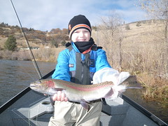 Hank lands another lunker Klamath River Steelhead, enters Shasta Trout's