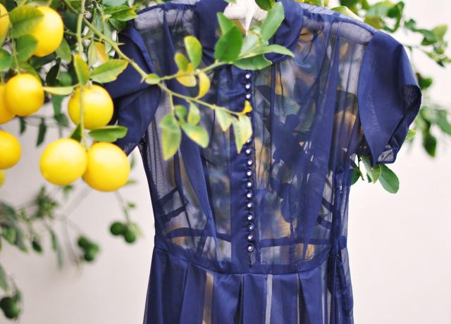 vintage 50's sheer shirt dress