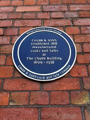 Photo of Chubb & Son's blue plaque