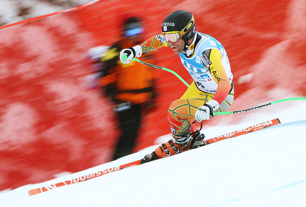 Robbie Dixon downhill training at the 2011 Lake Louise Winterstart World Cup