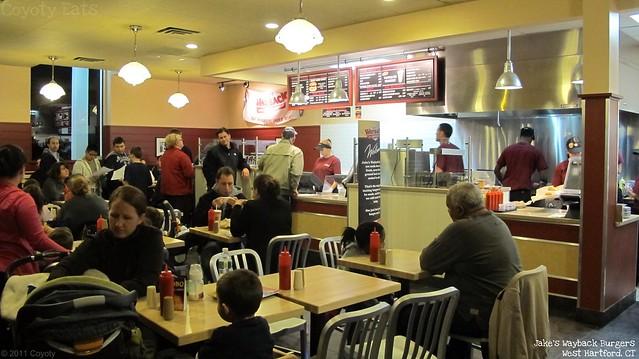 Jake's Wayback Burgers interior