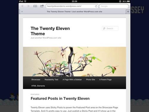 Twenty Eleven テーマ(iPad で表示)