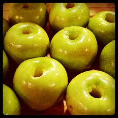Apples just before they became strudel