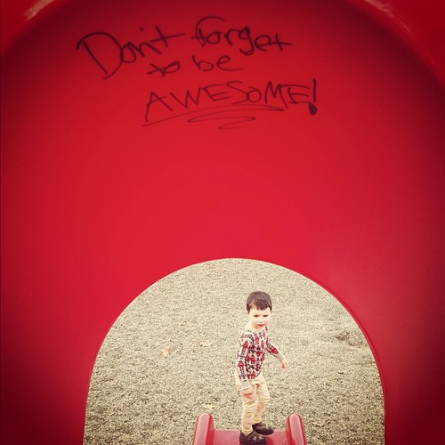 Our park has better vandals than yours ... #justsaying