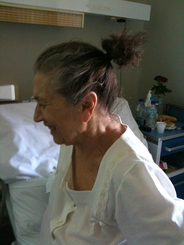 Grandma's tiny ponytail :)