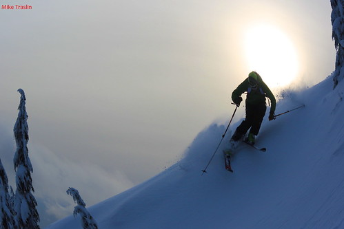 Afternoon Slash.... Skier Andy Traslin  ...photo Mike Traslin