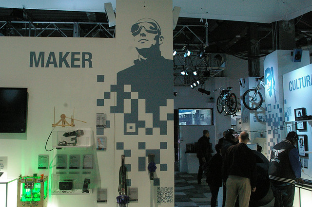 The Wired Pop up Store in Times Square featuring a Maker section