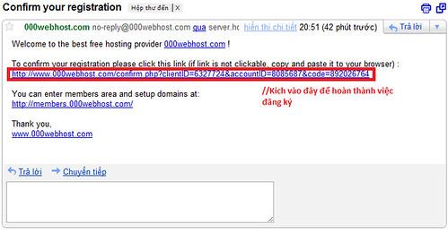 Vào email xác nhận.