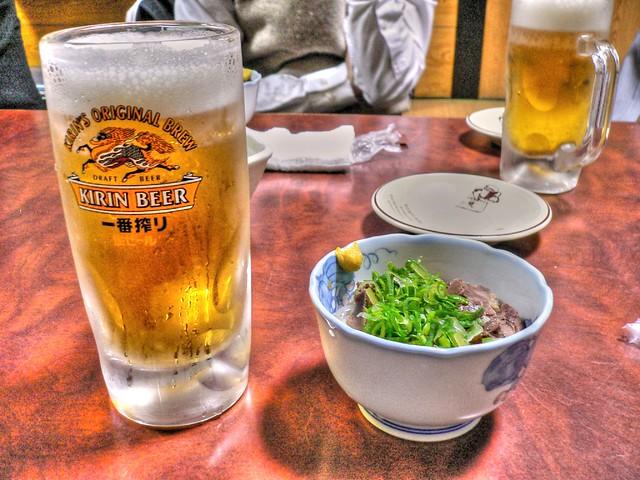 ビール&鳥酢