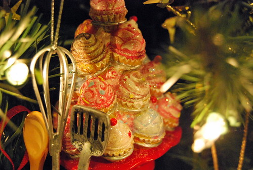 Cupcake tower ornament