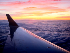 avion photo nuage aile coucher de soleil