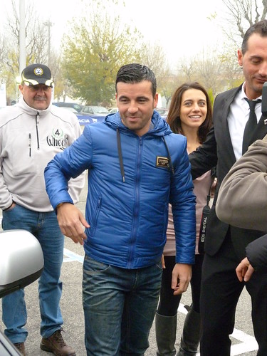 Antonio di Natale sullo stand Dacia Duster off-road