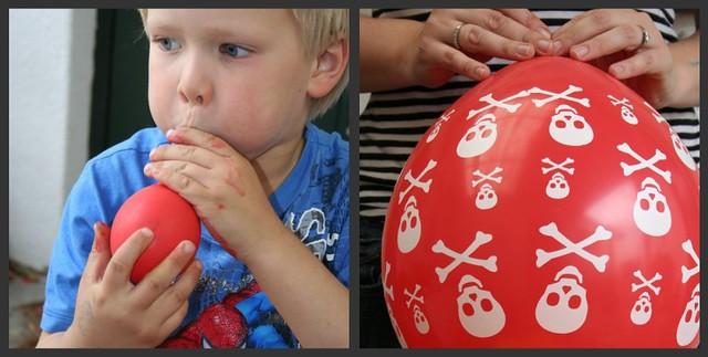 balloon blowing