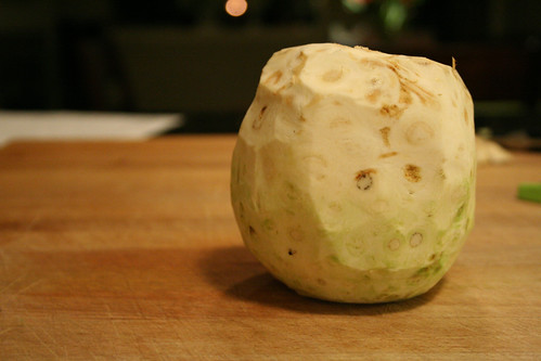 Naked celery root