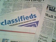 Local and national newspapers