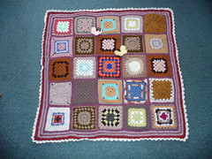 Thanks Jean Nock for assembling. Thanks to everyone that has contributed Squares to this Blanket.