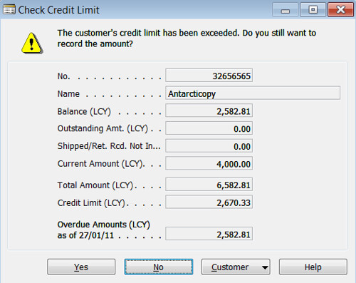 Printables Credit Limit Worksheet credit warnings field in the sales receivables setup table limit warning