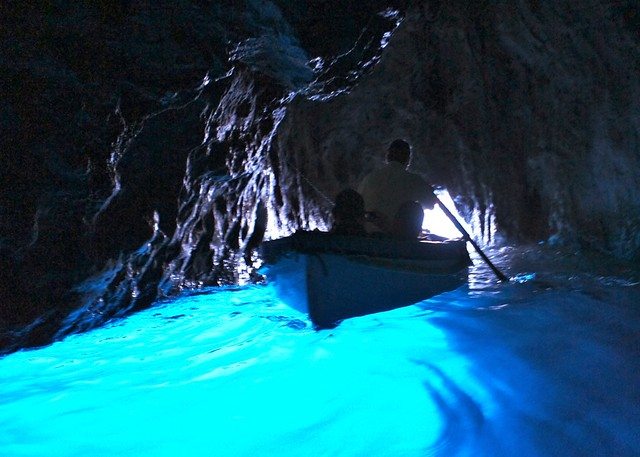 Exiting the Blue Grotto