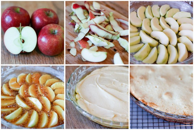 Apple Cake Tatin collage 1