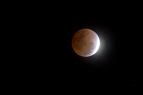 無料写真素材, 自然風景, 空, 月, 夜空, 月食