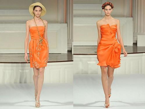 Oscar-de-la-Renta-primavera-vestidos-cortos-naranja