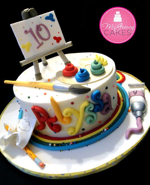 Art Gallery Birthday Cake : Alyssa s Art Cake Flickr - Photo Sharing!