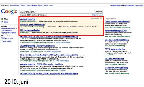 Google.nl serp - juni 2010