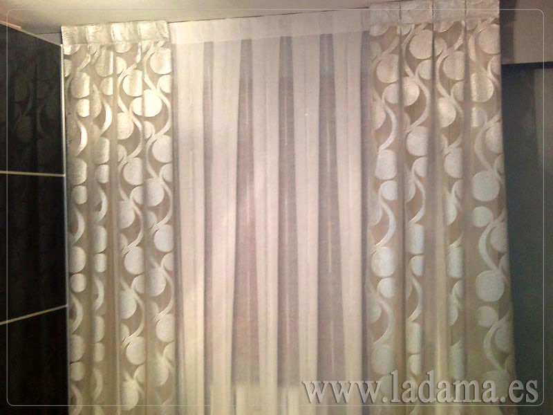 Decoraci n para dormitorios modernos cortinas en barra - Cortinas y estores para salones ...