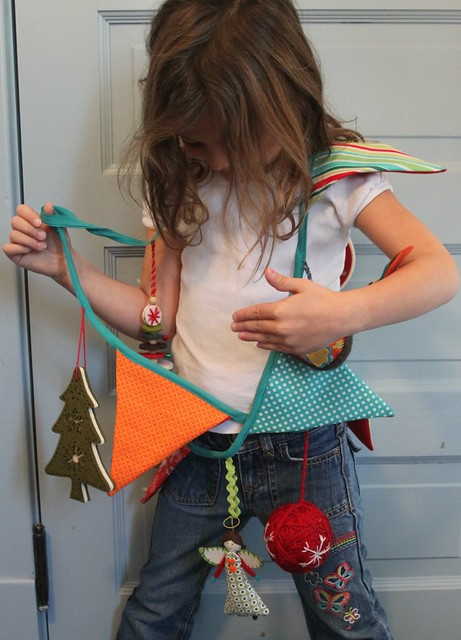 Christmas Bunting Garland -- and our crazy birthday girl!