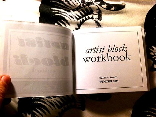 artist block workbook for sale