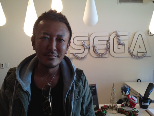 Toshihiro Nagoshi - Visiting for the Binary Domain event