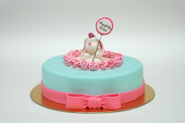 cute bunny birthday cake  Flickr - Photo Sharing!
