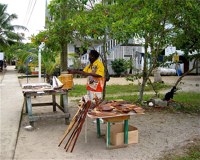 local street vendor of placencia belize