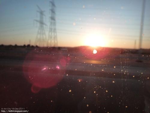 Sunset in Al Ain City - UAE