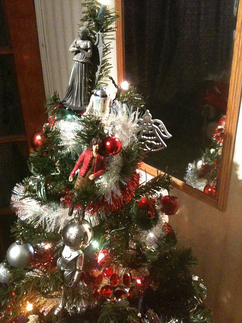 The Weeping Angel tops the tree