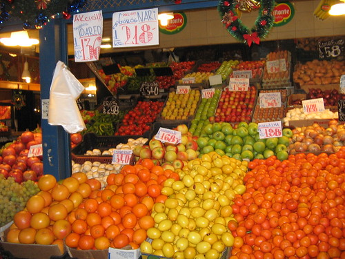 Fruit and veg, Central Market Hall, Budapest