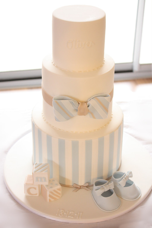 christening cake for oliver sugarpaste bow tie booties and vintage