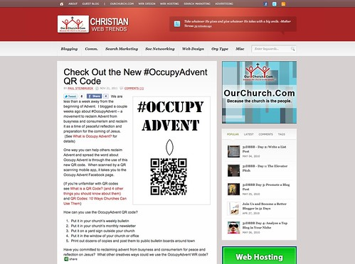 Twitter Advent Calendar: Day 17, #OccupyAdvent